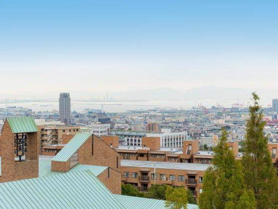 抜群の眺望!神戸市街地の向こう側には海が見えます☆